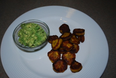 everyday paleo plantain chips and guacamole