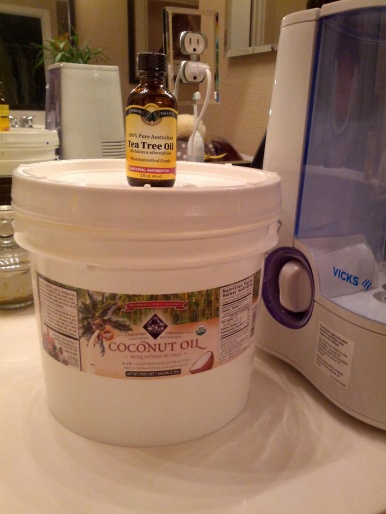 coconut oil with tea tree oil