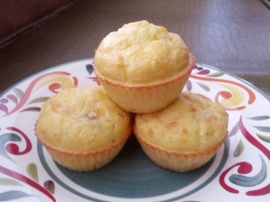 Gluten free, grain free Coconut flour Bacon, Egg, and Cheese Muffins
