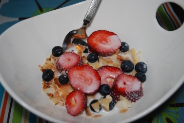 dairy free grain free cereal with homemade almond milk