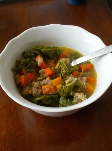 paleo sausage and sweet potato soup
