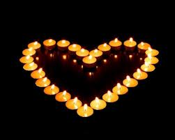 candlelight heart