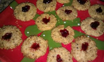 gluten free Italian thumbprint cookies