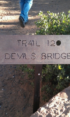 Devil's Bridge marker in Sedona, AZ
