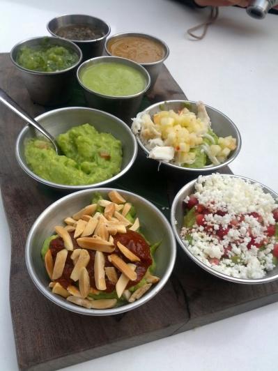 guacamole tasting from La Condesa