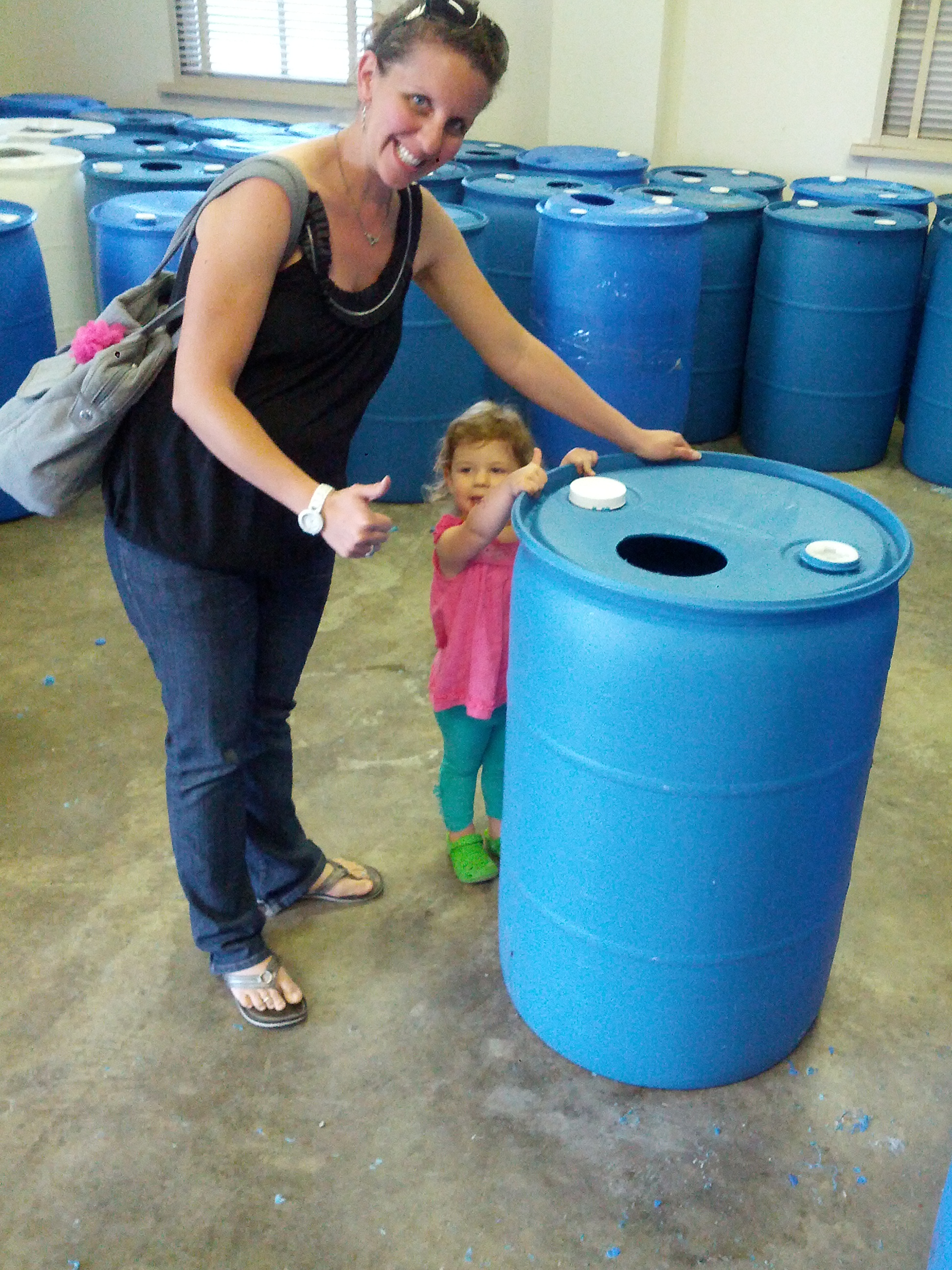 earth day 2013 making a rain barrel crunchy hot mama