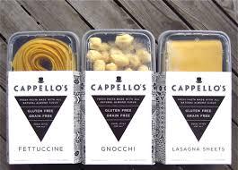 Cappellos gluten free pasta Taste of Each
