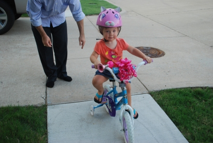 Emma on her bike