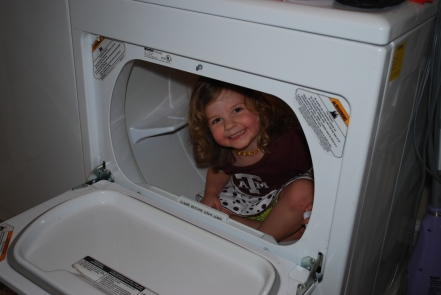 Emma in the dryer