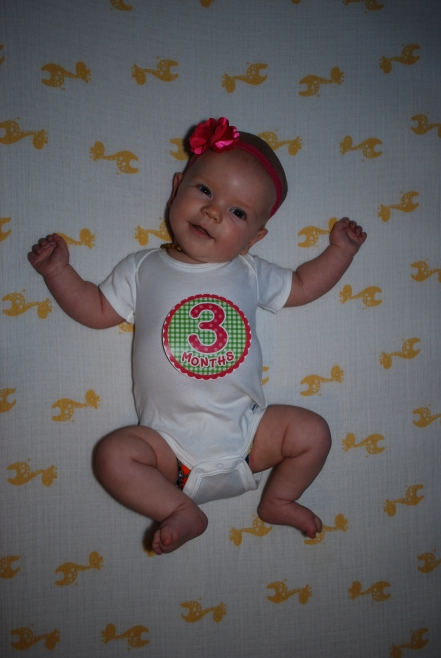 Sophia at 3 months
