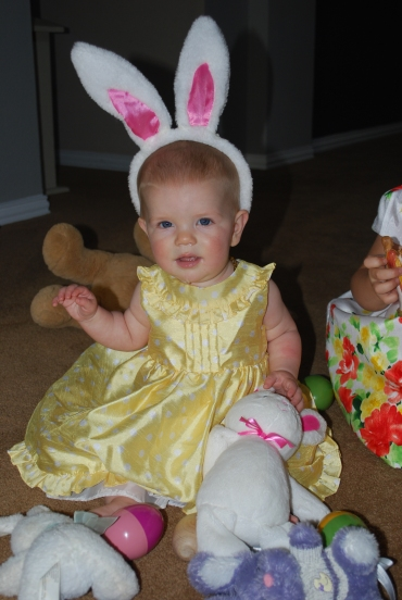 Sophia the Easter bunny