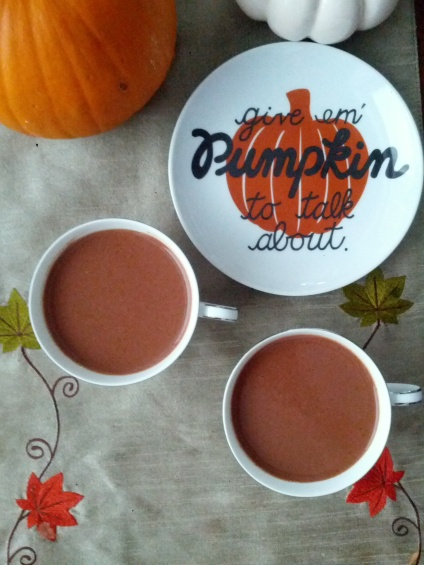 dairy free pumpkin hot chocolate