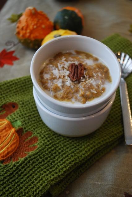 paleo pumpkin n'oatmeal