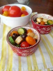 Tomato and olive salad