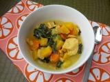 Ginger Coconut Curry Winter Squash Soup {Paleo,Vegan}
