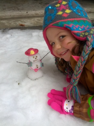 snow woman in Texas