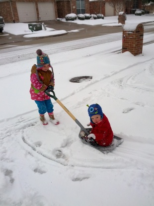 sledding sisters