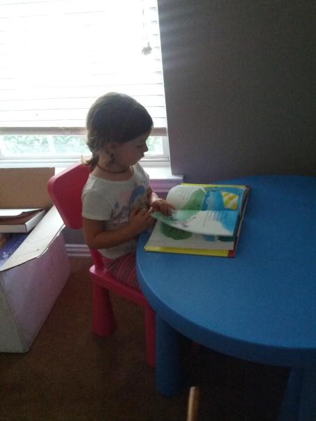 Emma reading