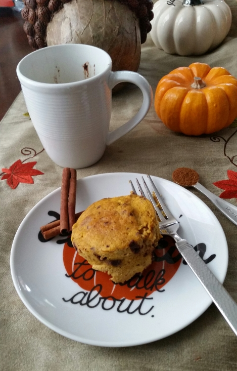 Pumpkin Mug Bread
